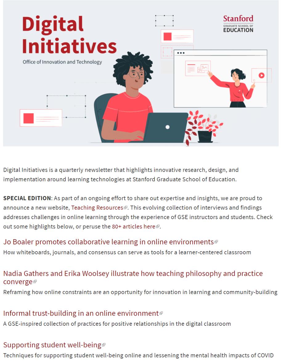 Digital Initiatives, Fall 2020