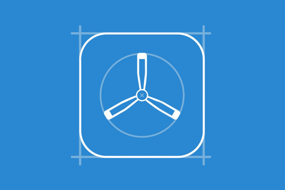 Graphic of a TestFlight logo