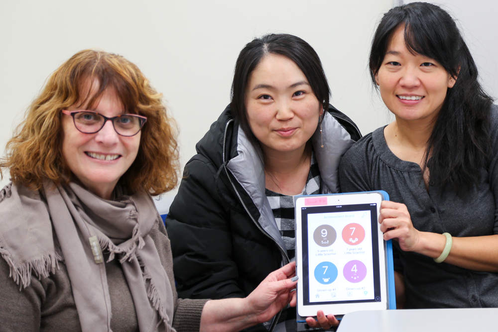 Photo of Shelley Goldman (left), Sunmi Seol (middle), KaiFeng Cheng (right)