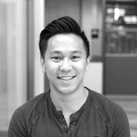 Black and white headshot of David Luong