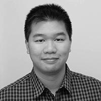 Black and white headshot of John Yu