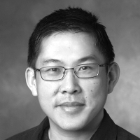 Black and white headshot of Stephen Wong